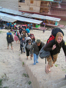 Going down the Maekong, Loas. This was after the first day of traveling.