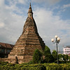 Vientiane's Black Stupa was stripped of its gold by the Thais in 1828.