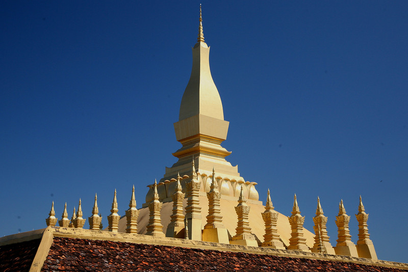 "Vientiane's That Luang, or ""Great Stupa."""