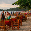 Most of the restaurants just bring a bunch of tables out onto the sand and alot of dinning takes place next to the sea.