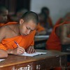 A classroom full of monks.