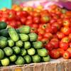 Lovely fresh vegetables in the morning market.