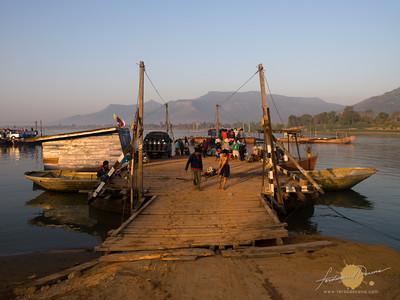 Crossing Mekong River
