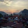 Sunset on the karst hills.