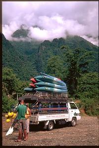 Kayak the Mekong River Vang Viene, Laos