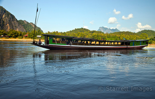 Typical Mekong boat