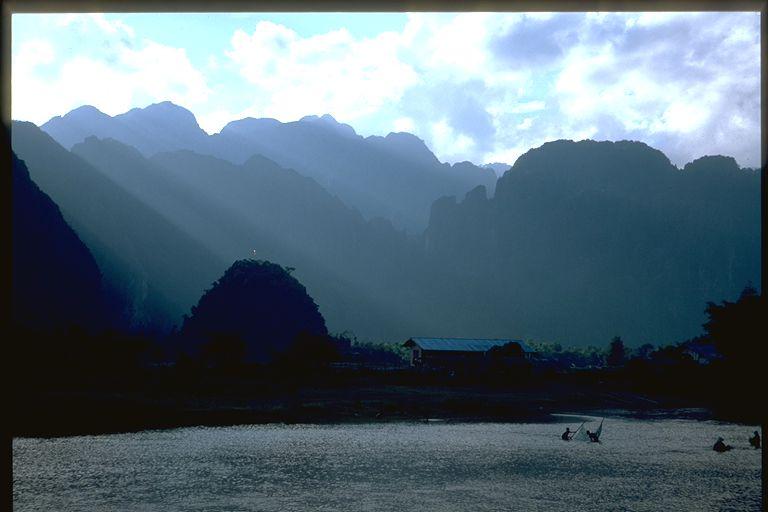 Vang Vieng mountain sunset, Laos