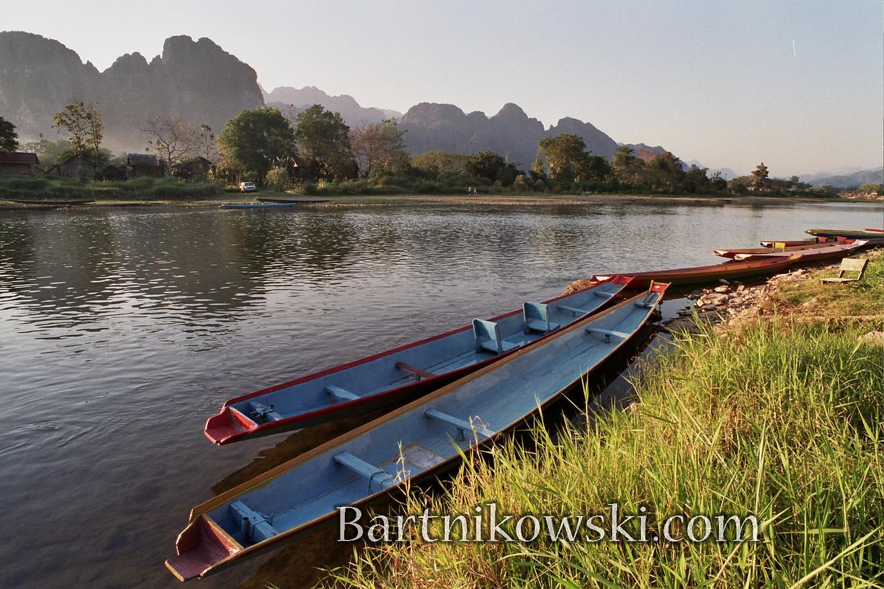 Riverside in Vang Vieng, Laos
