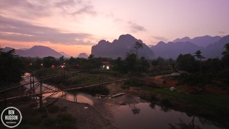 Sunset, Vang Vieng, Laos