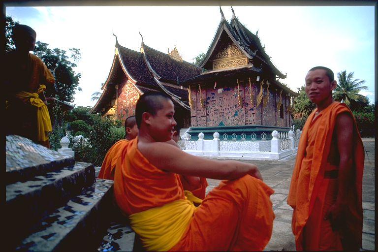 Young monks in Luang Prabang Wat, Laos