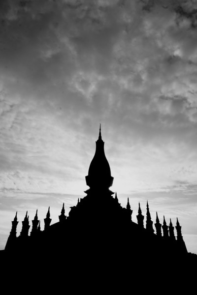 Silhouette of Wat Pha That Luang, Vientiane.