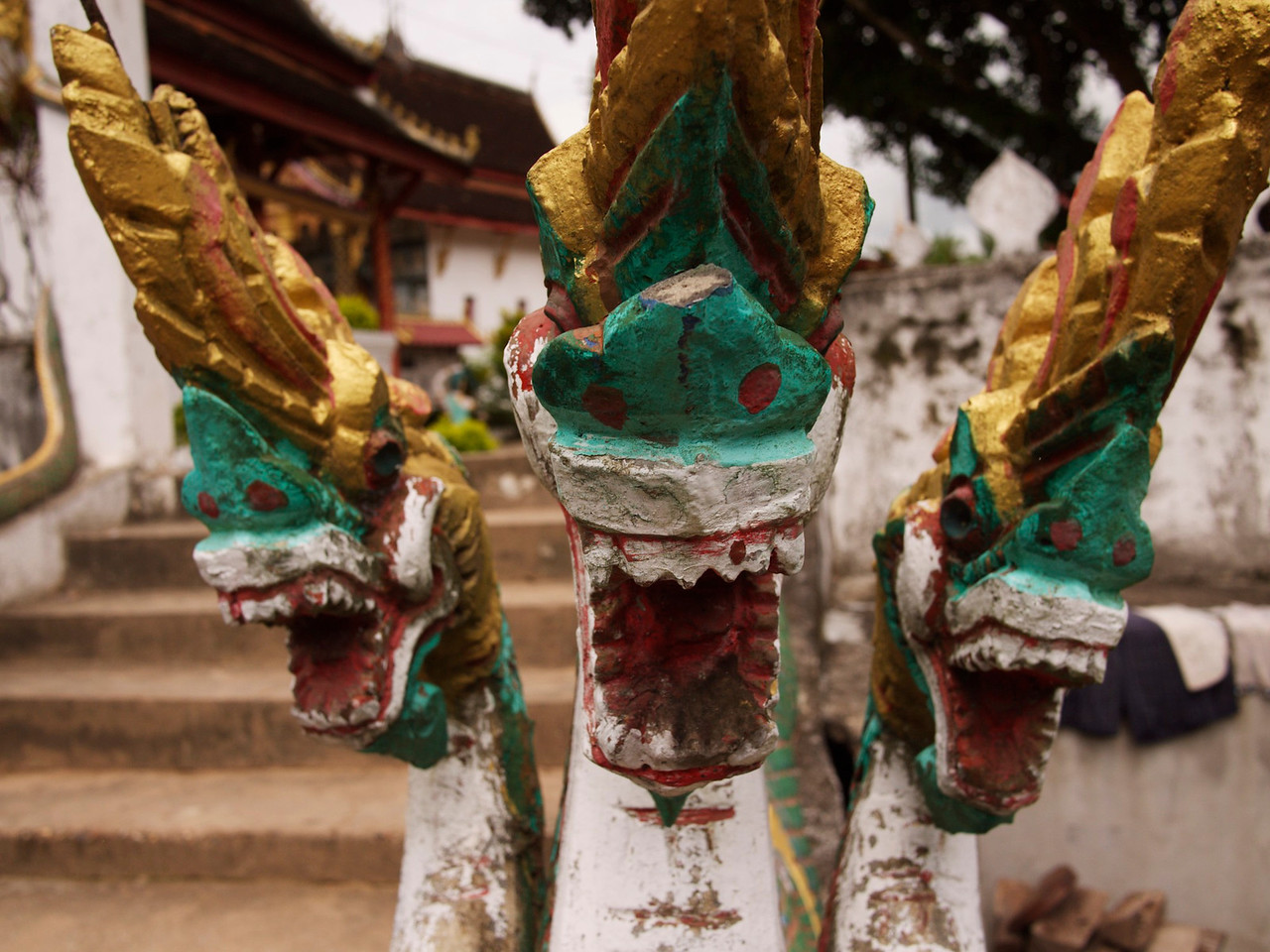 nagas!  the river serpent that serves as protector in lao buddhism.