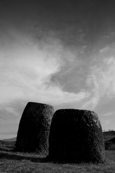 Megalithic jars at the Plain of Jars (Site 1), Phonsavan.