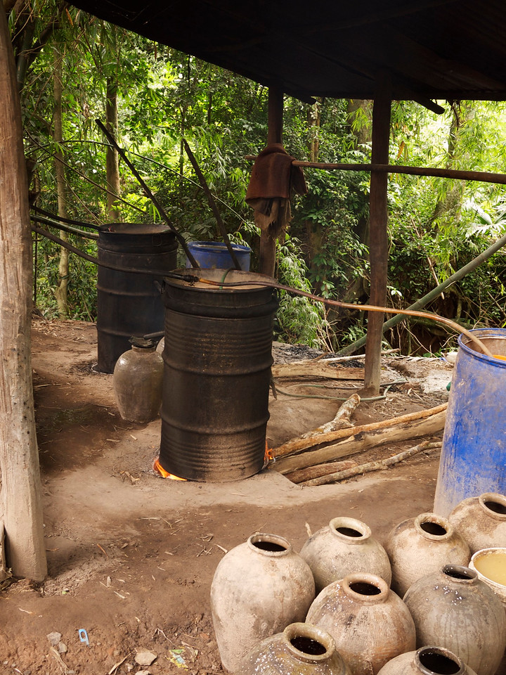 """this is how they make lao lao, a lao """"whiskey"""""""