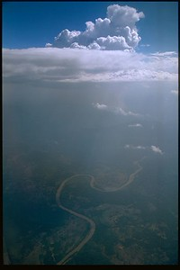 Ariel view of Mekong River, Laos