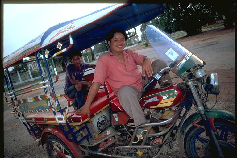 Tuk Tuk moto driver in Laos