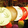 Lanterns made of mulberry paper