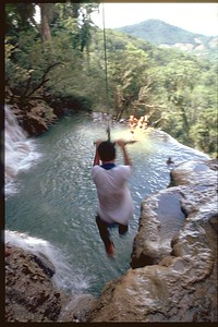 Waterfall swingin back in Luang Prabang, Laos