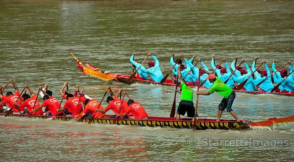 Boat races between village teams
