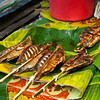Grilled fish on banana leaves
