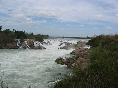 The Khone Pha Pheng falls south of Pakse.