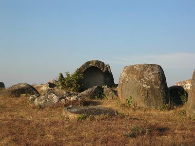 The Plain of Jars: http://en.wikipedia.org/wiki/Plain_of_Jars  The fact that I have actually visited this place, so far away and inaccessible, is one of the most transforming experiences of my life. This place is magical.