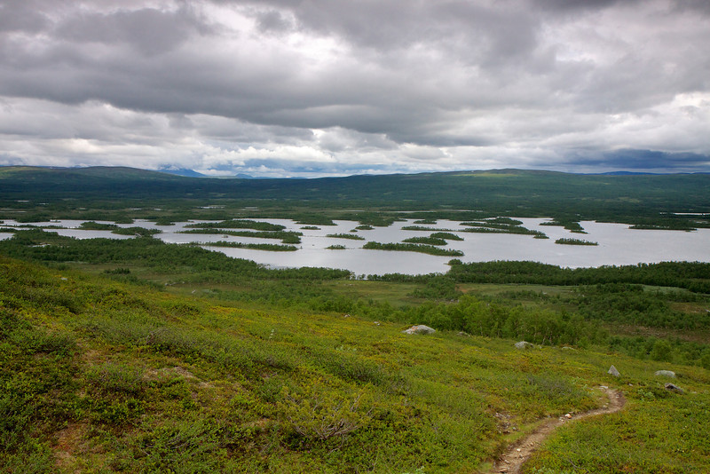 Tärnasjöns skærgård fra Stokkeklippen