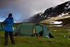 Lejren øst fra Vitarstugan.
