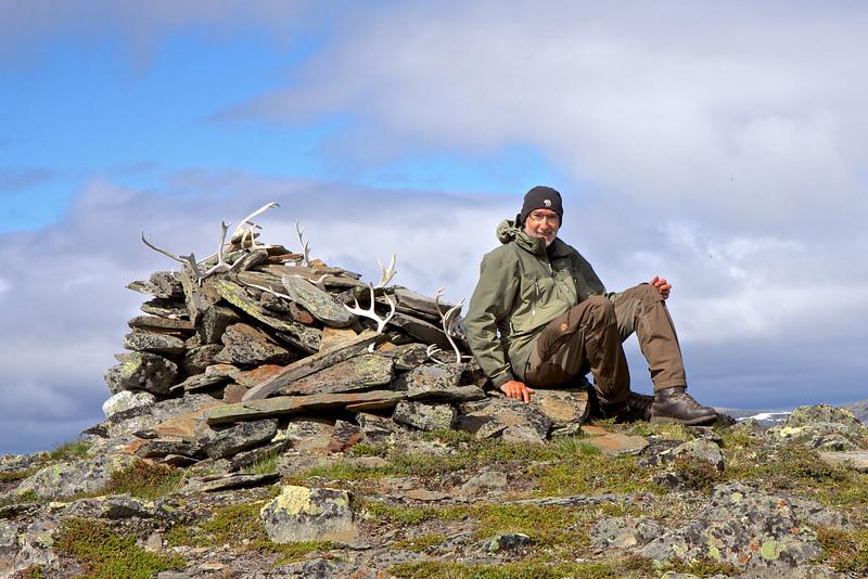 På toppen af Skijrátjåhkka, 1110 m.