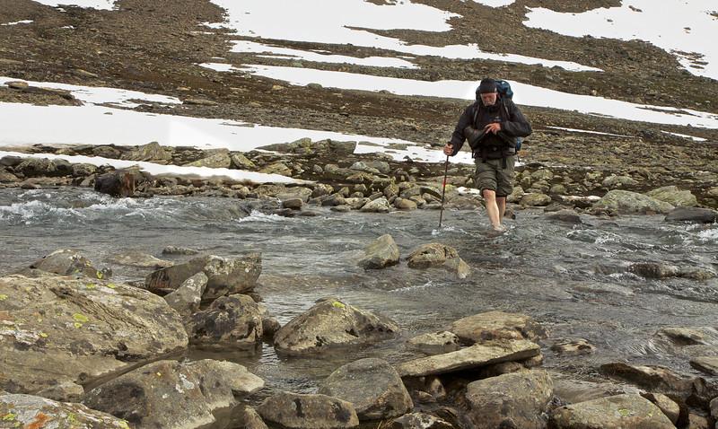 Koldt vand i Vitarskalet.