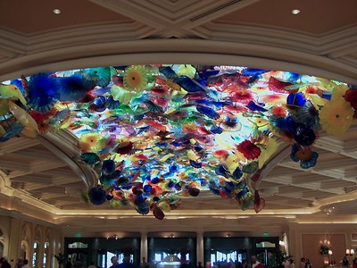 Artist installation of what looked like jellyfish in the lobby of the Ballagio