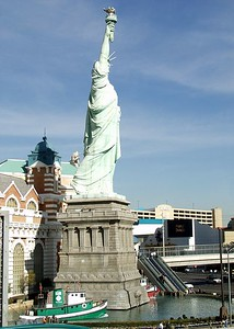 Statue of Liberty in front of New York New York Hotel