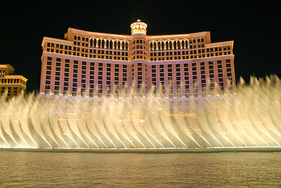 View of the fountain show from outside