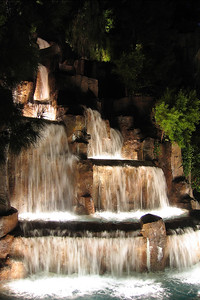 One of the waterfalls outside the Wynn.