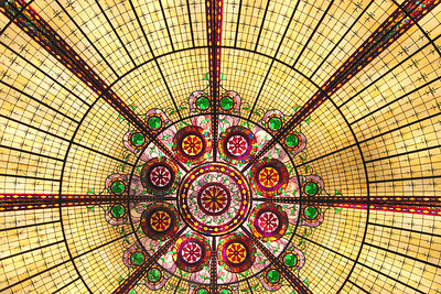 Nice stained glass ceiling in the Paris Las Vegas
