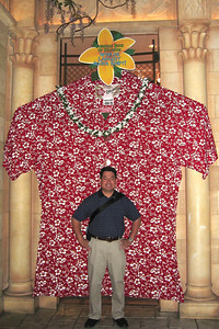 The largest Hawaiian shirt in the world at the Alladin - 400XL. Cly would have to eat at many a buffet to fit in this thing.
