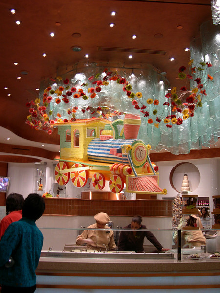 Candy train in candy shop inside Bellagio