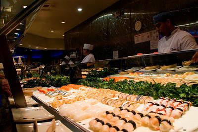 Lots of sushi at Todai
