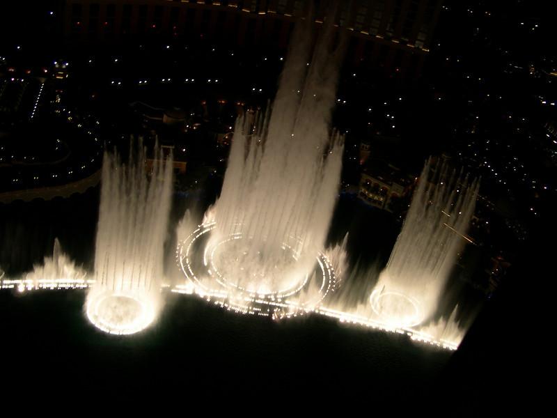 Fountain at Bellagio, seen from Paris