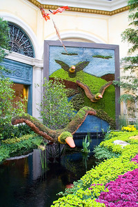 We took a look around the Bellagio.  This year, there was a duck theme in the Conservatory.