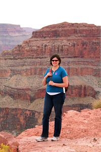 Darcie standing near the edge after we'd been choppered back up.
