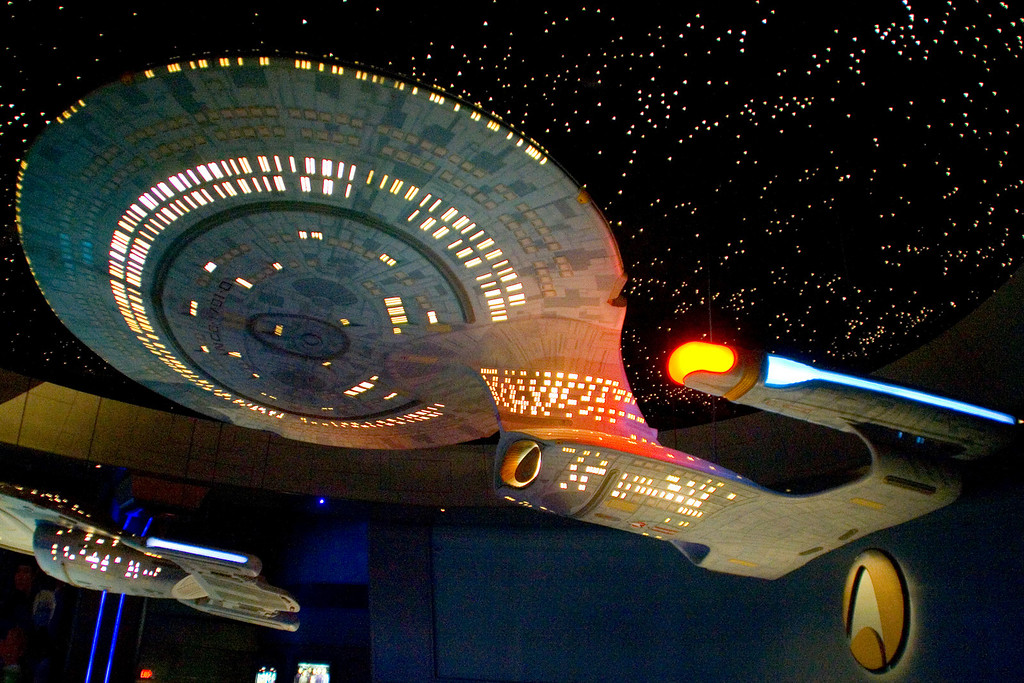 Replica of the USS Enterprise NCC-1701D, the main Enterprise featured in Star Trek: The Next Generation.