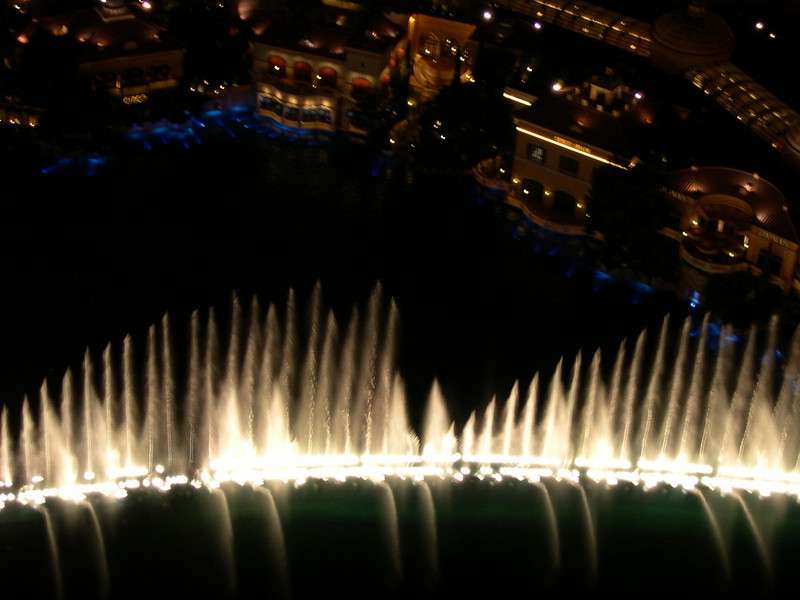 Fountain at Bellagio, seen from Paris