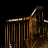 Looking back at the Mandalay Bay at night.