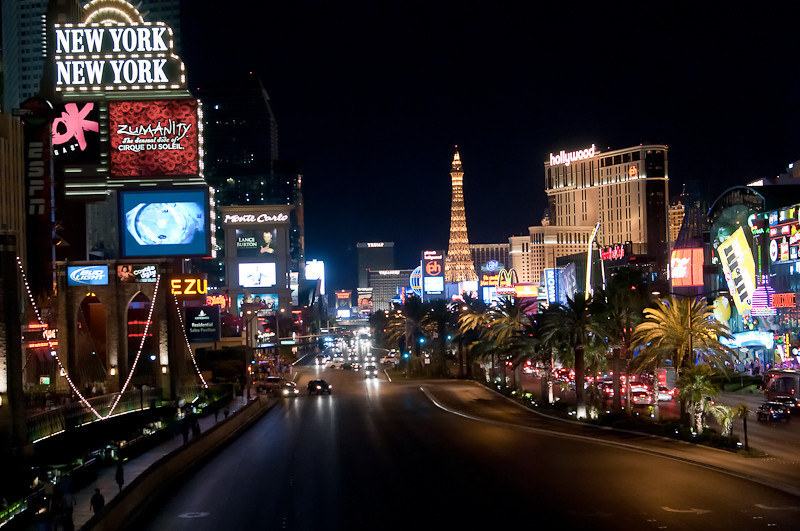 Looking up the strip.