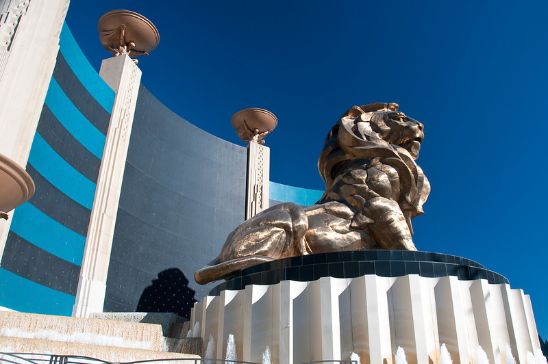 The MGM Grand lion