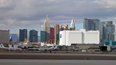 Vegas seen from Terminal 1