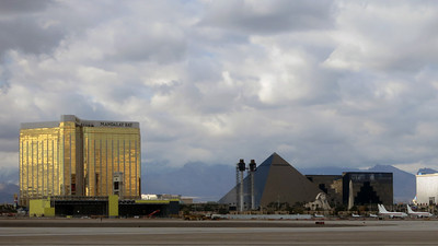 Luxor and Mandalay seen from Terminal 1