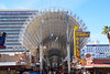 One can now zip line through the Fremont Street Experience.  Probably more cool at night...