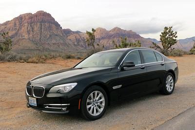 BMW 740i desert